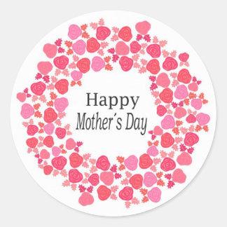 glücklicher Muttertag Runder Aufkleber