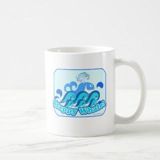 Glücklicher niedlicher Cartoon-Wal! Kaffeetasse