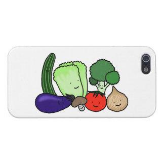 Glücklicher niedlicher Gemüse iPhone Fall-Vegetari