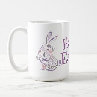 Glücklicher Osterhase u. Eier - 1 Kaffeetasse