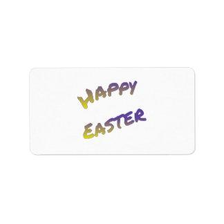 Glücklicher Ostern-Aufkleberaufkleber, bunte Adressaufkleber