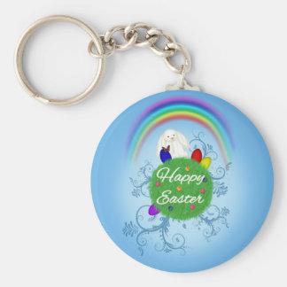 Glücklicher Ostern-Planet - Keychain Schlüsselanhänger