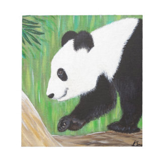 Glücklicher Panda Notizblock