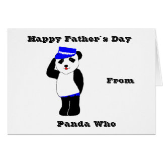 Glücklicher Panda-Vater ` s Tag Karte