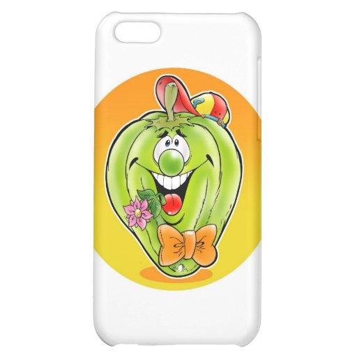 Glücklicher Paprika mit Hintergrund Hüllen Für iPhone 5C