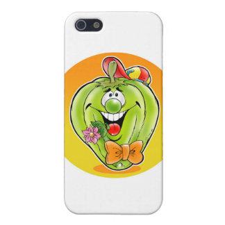 Glücklicher Paprika mit Hintergrund Hülle Fürs iPhone 5