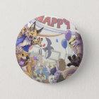 Glücklicher Pelzbetrug Knopf Runder Button 5,7 Cm