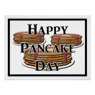 Glücklicher Pfannkuchen-Tag Poster