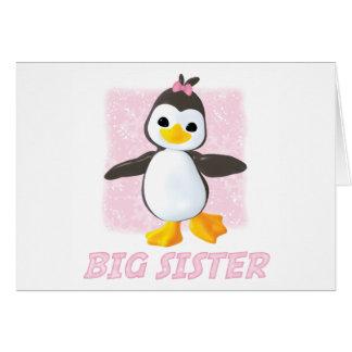 Glücklicher Pinguin-große Schwester Karte