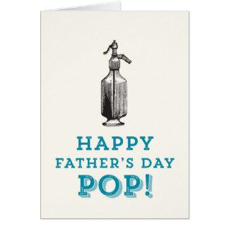 Glücklicher POP der Vatertag! Karte