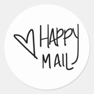 Glücklicher Postaufkleber Runder Aufkleber