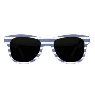 Glücklicher Punkt-blaue und weiße Streifen Sonnenbrille