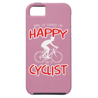 Glücklicher Radfahrer (weiß) Tough iPhone 5 Hülle