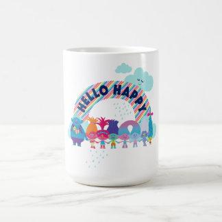 Glücklicher Regenbogen der Schleppangel-| Kaffeetasse