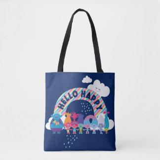 Glücklicher Regenbogen der Schleppangel-| Tasche
