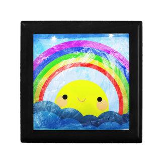 Glücklicher Regenbogen Kleine Quadratische Schatulle