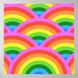 Glücklicher Regenbogen Poster