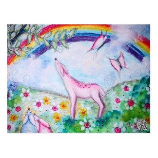 Glücklicher Regenbogen Postkarte