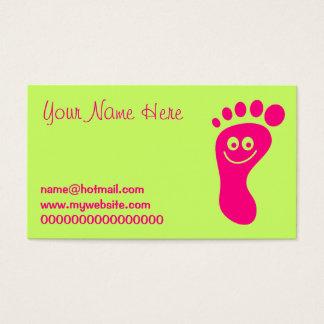 Glücklicher rosa Fuß Visitenkarte