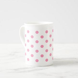 Glücklicher rosa Tupfen Porzellantasse