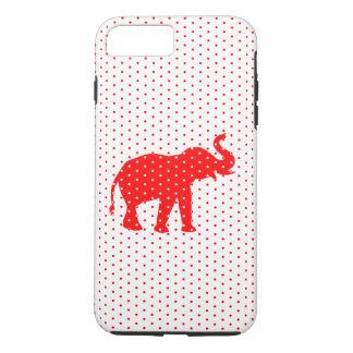 Glücklicher roter Elefant iPhone 6 Kasten iPhone 8 Plus/7 Plus Hülle
