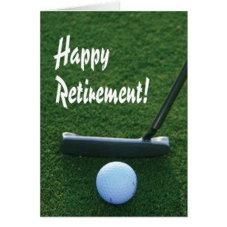 Glücklicher Ruhestand für Golfspieler Karte