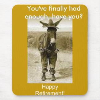 Glücklicher Ruhestand Mousepad