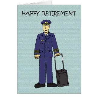 Glücklicher Ruhestands-Pilot Karte
