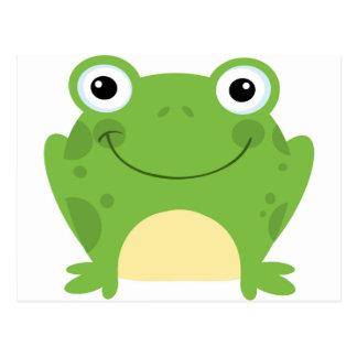 Glücklicher runder Frosch Postkarte