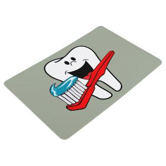 Glücklicher sauberer Zahn Bodenmatte