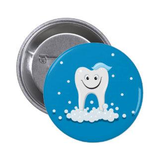 Glücklicher sauberer Zahn Button