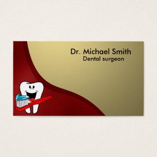 Glücklicher sauberer Zahn Visitenkarte
