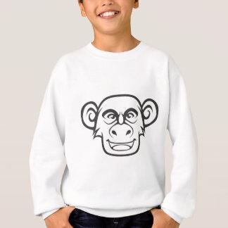 Glücklicher Schimpanse Sweatshirt