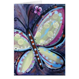 Glücklicher Schmetterling Karte