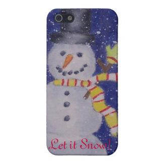 Glücklicher Schnee iPhone 4 Fall iPhone 5 Schutzhüllen