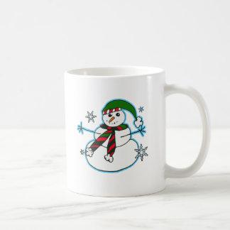 Glücklicher Schneemann Kaffeetasse