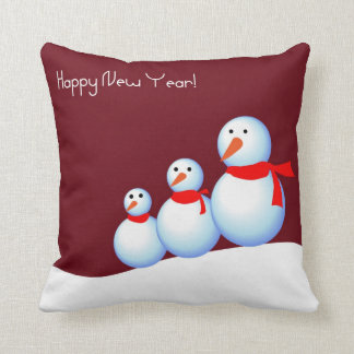 Glücklicher Schneemann Kissen