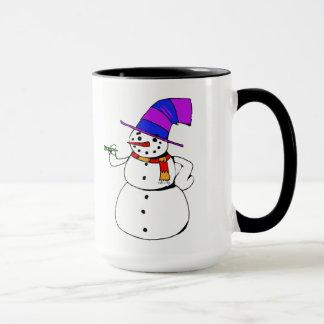 Glücklicher Schneemann Tasse