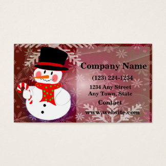 Glücklicher Schneemann Visitenkarte