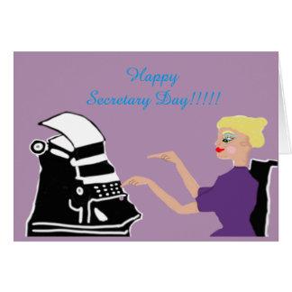 Glücklicher Sekretär Day Karte