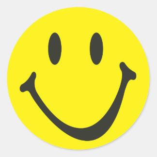 glücklicher Smiley Runder Aufkleber