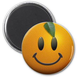 Glücklicher Smiley Runder Magnet 5,7 Cm