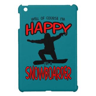 Glücklicher SNOWBOARDER (Schwarzes) iPad Mini Hülle