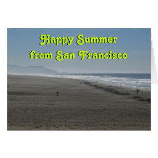 Glücklicher Sommer Karte