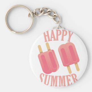 Glücklicher Sommer Schlüsselanhänger