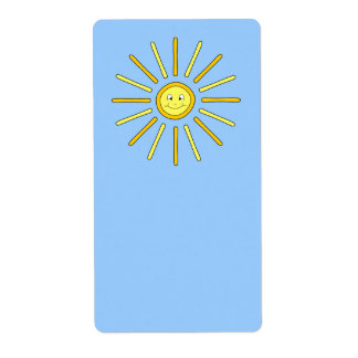 Glücklicher Sommer Sun. Gelb und Blau