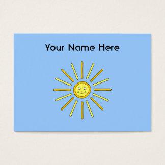Glücklicher Sommer Sun. Gelb und Blau Visitenkarte
