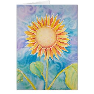 Glücklicher Sonnenblume-Karte ~ freier Raum durch Grußkarte