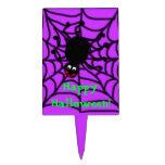 Glücklicher Spinnen-Kuchen-Deckel Tortenpicker