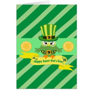 Glücklicher St- Patricktag Karte